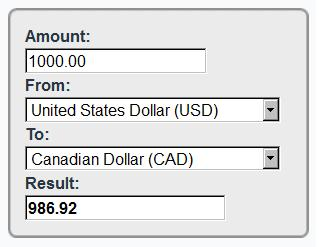 Universal Currency Converter